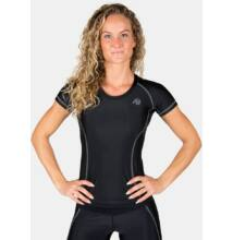 Gorilla Wear Carlin Compression Short Sleeve Top (fekete/szürke)