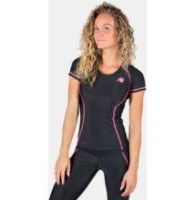Gorilla Wear Carlin Compression Short Sleeve Top (fekete/pink)
