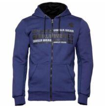 Gorilla Wear Bowie Mesh Zipped Hoodie (navy kék)
