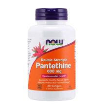NOW Foods Pantethine 600mg (60 lágykapszula)