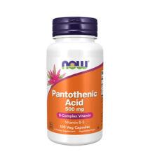 NOW Foods Pantothenic Acid (Pantoténsav) 500mg (100 kapszula)