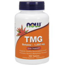 NOW Foods TMG (Trimethylglycine) - Betaine 1000mg (100 tabletta)