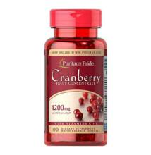 Puritan's Pride Cranberry Fruit Concentrate with C & E 4200 mg (100 lágy kapszula)