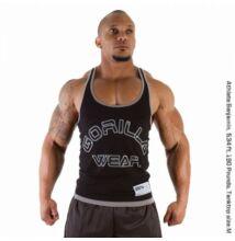 Gorilla Wear Logo Stringer Tank Top atléta trikó (fekete)
