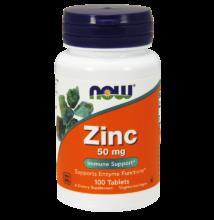 NOW Foods Zinc 50mg (100 tabletta)