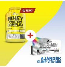 Olimp Whey Protein Complex 100% (1,8kg) + AJÁNDÉK Vita-Min Multiple Sport (60 kapszula)