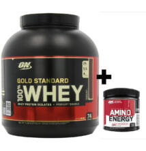 Optimum Nutrition Gold Standard 100% Whey (2,27kg) + AJÁNDÉK AmiN.O. Energy (90g)
