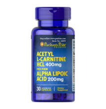 Puritan's Pride Acetyl L-Carnitine 400mg with Alpha Lipoic Acid 200mg (30 kapszula)