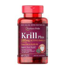 Puritan's Pride Krill Plus 1085mg Active Omega-3 (60 lágy kapszula)