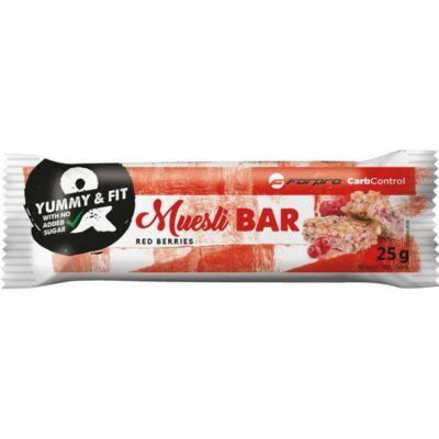 ForPro Muesli Bar - Piros gyümölcs íz  (24 x 25g)
