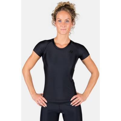Gorilla Wear Carlin Compression Short Sleeve Top (fekete/fekete)