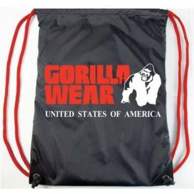 Gorilla Wear Drawstring Bag (fekete/piros)