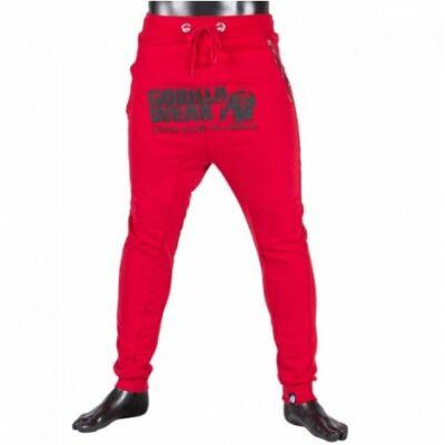 Gorilla Wear Alabama Drop Crotch Joggers (piros)
