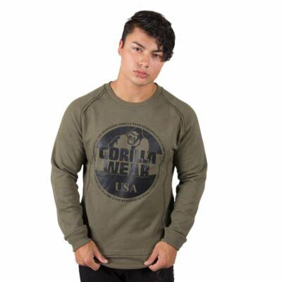 Gorilla Wear Bloomington Crewneck Sweatshirt (army zöld)