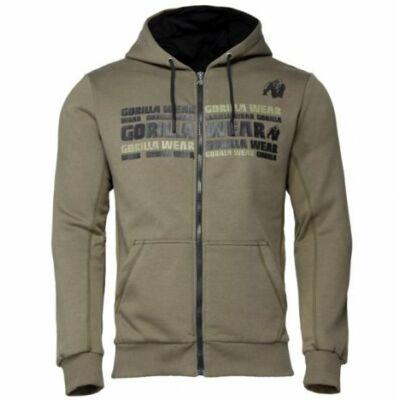 Gorilla Wear Bowie Mesh Zipped Hoodie (army zöld)