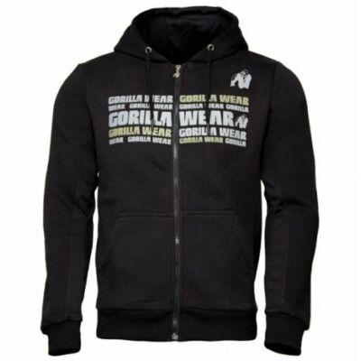 Gorilla Wear Bowie Mesh Zipped Hoodie (fekete)