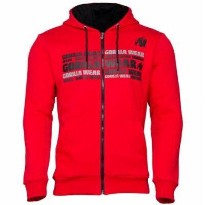 Gorilla Wear Bowie Mesh Zipped Hoodie (piros)