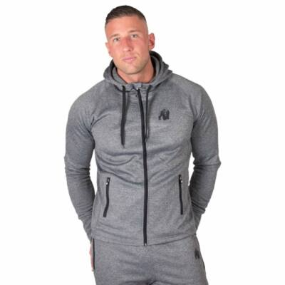 Gorilla Wear Bridgeport Zipped Hoodie (szürke)