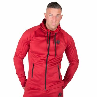Gorilla Wear Bridgeport Zipped Hoodie (piros)
