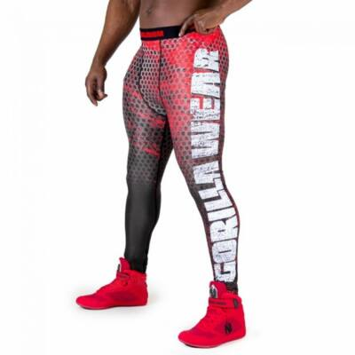 Gorilla Wear Bruce Men's Tights (Piros/szürke)