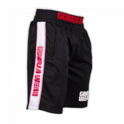 Gorilla Wear California Mesh Shorts (fekete/piros)