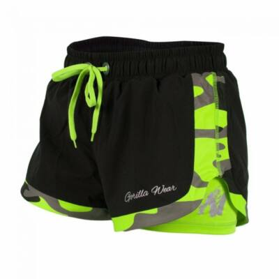 Gorilla Wear Denver Shorts (fekete/lime)