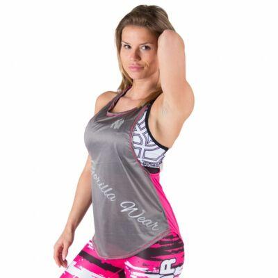 Gorilla Wear Florida Stringer Tank Top (szürke/pink)