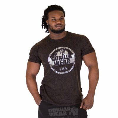 Gorilla Wear Rocklin T-shirt (barnás fekete)
