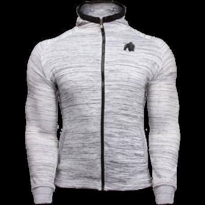 Gorilla Wear Keno Zipped Hoodie (fehér/fekete)