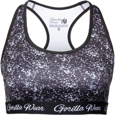 Gorilla Wear Hanna Sport Bra (fekete/fehér)