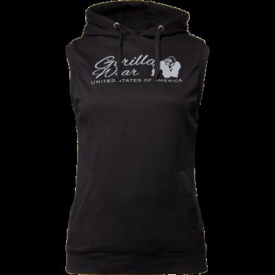 Gorilla Wear Selma Sleeveless Hoodie (fekete)