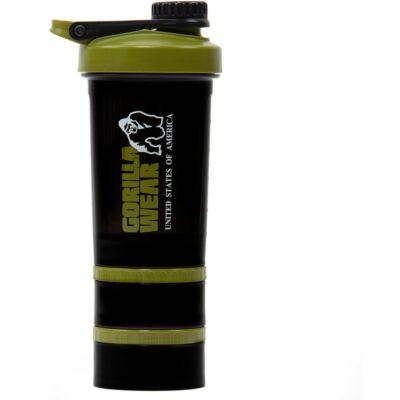 Gorilla Wear Shaker 2 Go (fekete/army zöld 760ml)