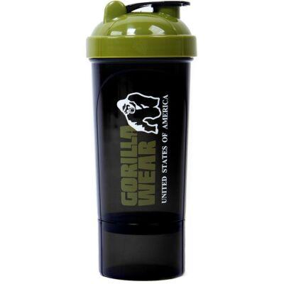Gorilla Wear Shaker Compact (fekete/army zöld 600ml)
