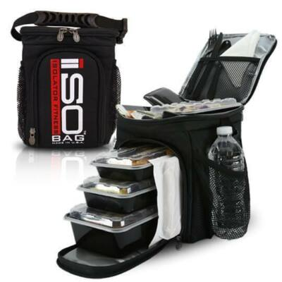 Isolator Fitness ISOCUBE 3 MEAL (fekete/piros-fehér)
