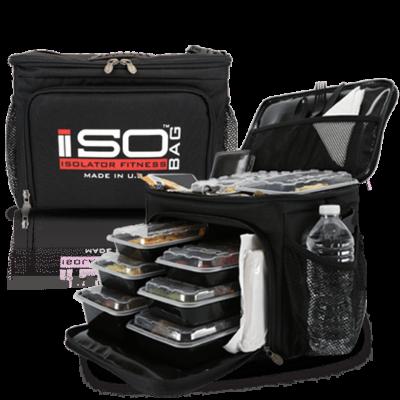 Isolator Fitness ISOCUBE 6 MEAL (fekete/piros-fehér)