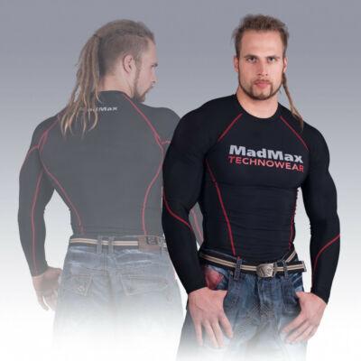 MADMAX Compression Long Sleeve Top Hosszú ujjú felső (Piros)