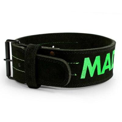 """MADMAX Suede Single Prong Belt öv 4"""" 10 mm - fekete"""