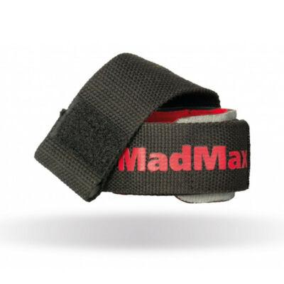 MADMAX PWR Wrist Wraps + Görgős Felhúzó Heveder - fekete