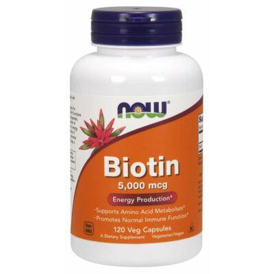 NOW Foods Biotin 5000mcg (120 kapszula)