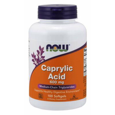 NOW Foods Caprylic Acid 600mg (100 lágy kapszula)