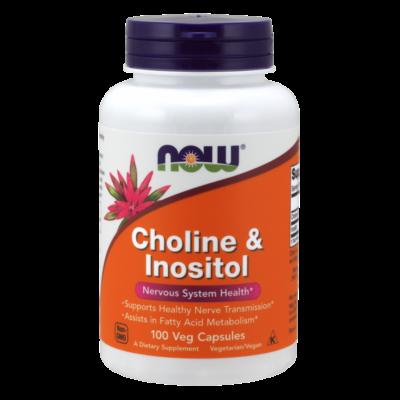 NOW Foods Choline & Inositol (100 kapszula)