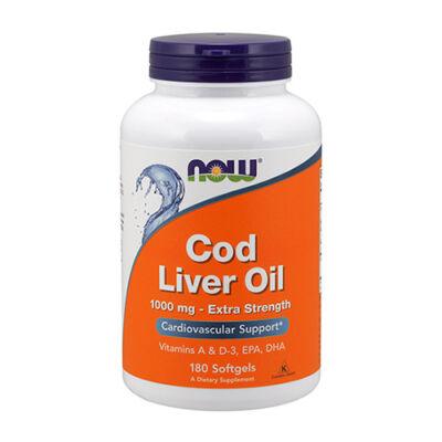 NOW Foods Cod Liver Oil 1000 mg (180 lágy kapszula)