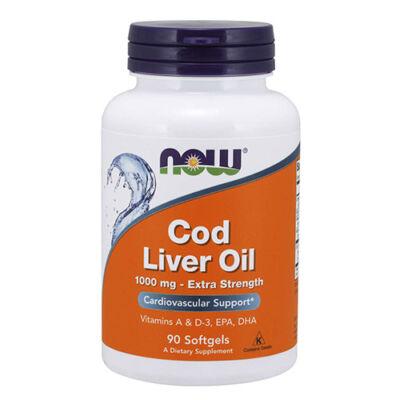 NOW Foods Cod Liver Oil 1000 mg (90 lágy kapszula)