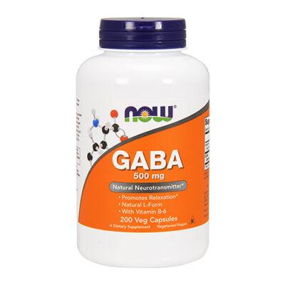 NOW Foods GABA 500mg (200 kapszula)