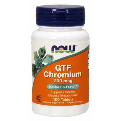 NOW Foods GTF Chromium 200mcg (100 tabletta)
