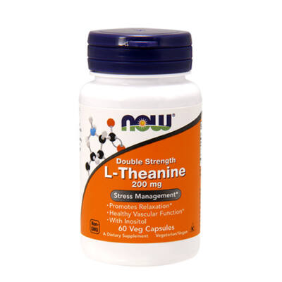 NOW Foods L-Theanine 200mg (60 kapszula)