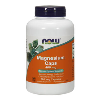 NOW Foods Magnesium Caps 400mg (180 kapszula)