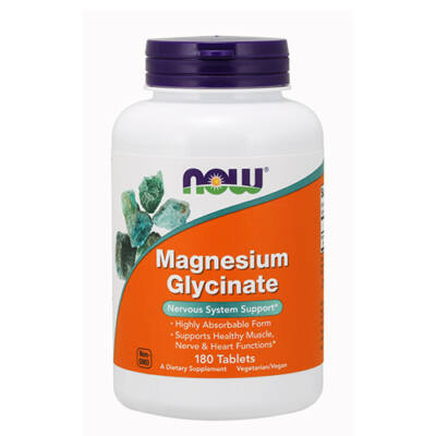 NOW Foods Magnesium Glycinate (180 tabletta)