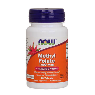 NOW Foods Methyl Folate 1000mcg (90 tabletta)
