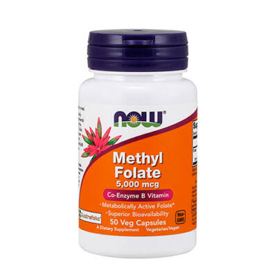 NOW Foods Methyl Folate 5000mcg (50 kapszula)